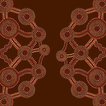 aboriginal art: Abstract background in Australian aboriginal art style Illustration