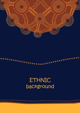 ornamento abstracto étnica en el estilo de pintura aborigen del punto de Australia Ilustración de vector