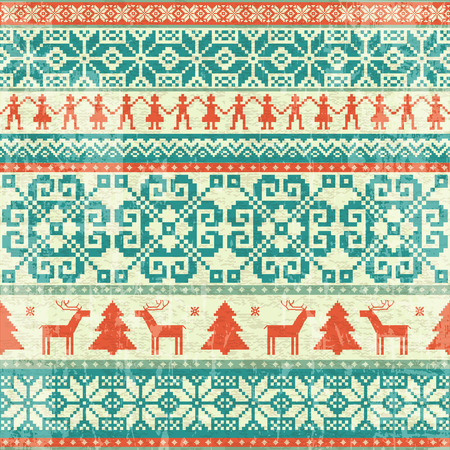 Tradicional Tricotado Patrón Transparente Sin Fisuras. Invierno ...
