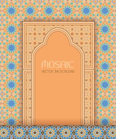 ornate background: Islamic architectural design, ornate mosaic background Illustration