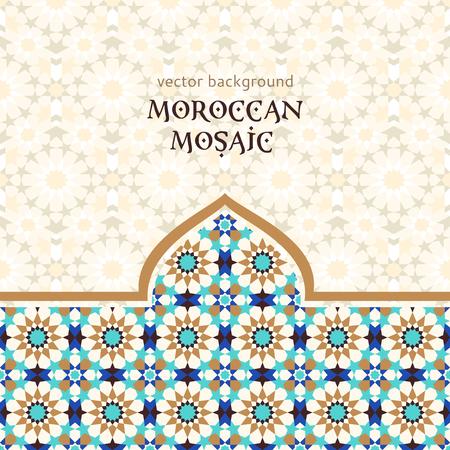 Marokańskie mozaiki tła