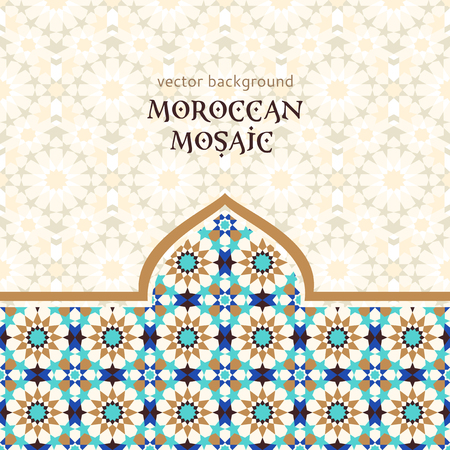 islamic pattern: Moroccan mosaic background