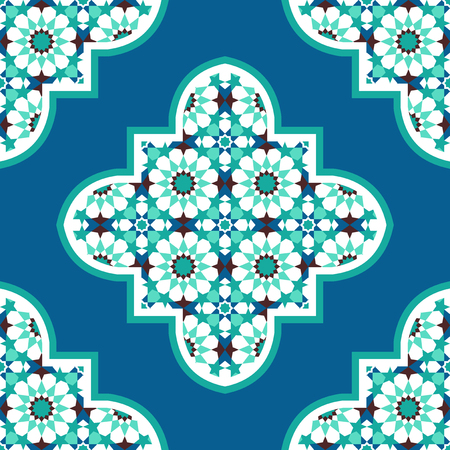 traditional pattern: Quatrefoil moroccan mosaic tile seamless pattern
