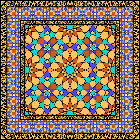 glass ornament: Traditional arabic stained glass ornament