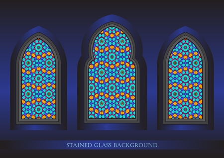 harem: Ancient stained glass ornamental windows