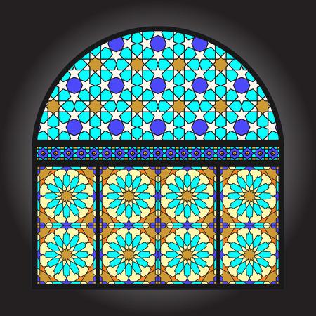 Altes Glasmalerei-Zierfenster