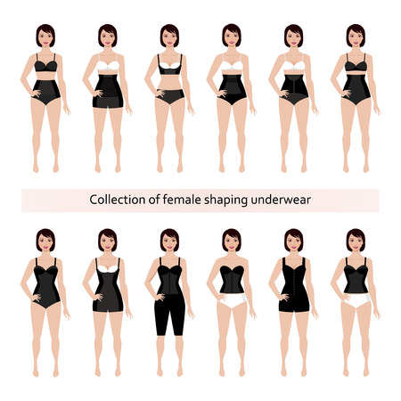 Collection of female corrective shaping underwear