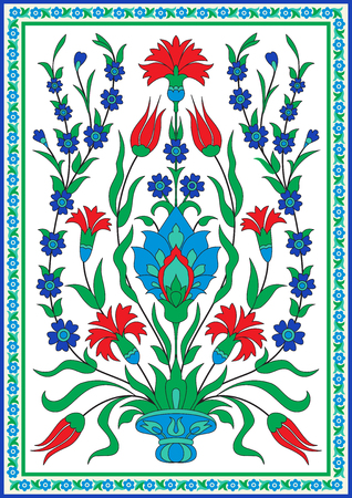 Traditional turkish style floral design decoration pattern design