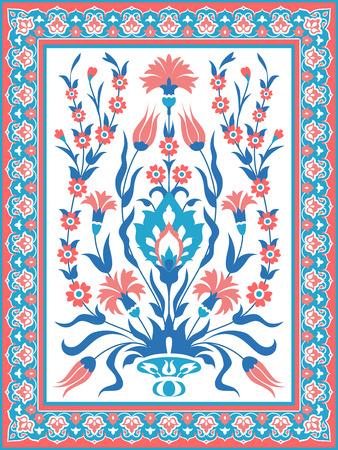Decorative floral ornament. Ornate decor for invitation, greeting card, background 일러스트