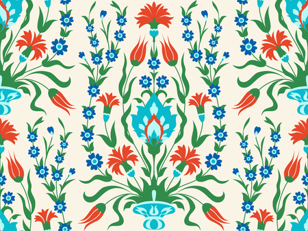 Floral seamless pattern in eastern style