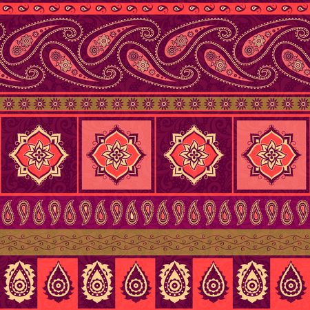 Striped pattern in indian style Illustration