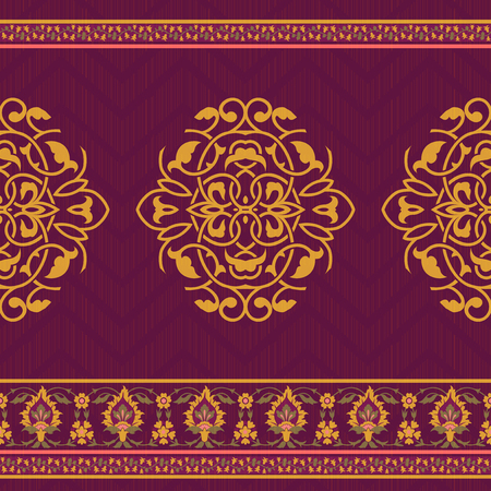 Textile design in oriental style
