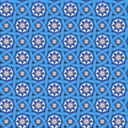 Stars tile background, vector seamless pattern Vectores