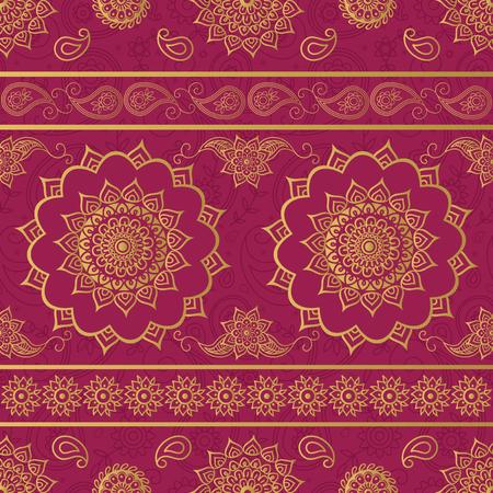 Mandala and paisley ornate pattern