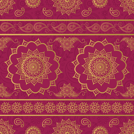 Mandala and paisley ornate pattern