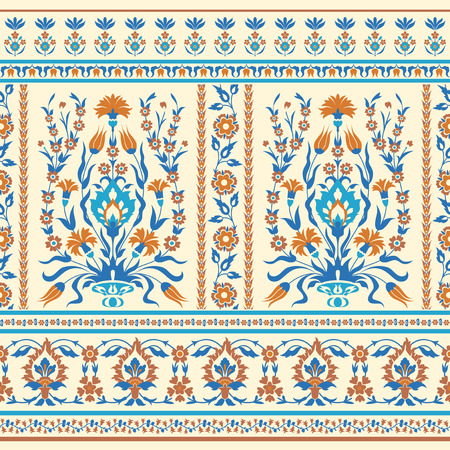 Oriental fabric pattern design Illustration