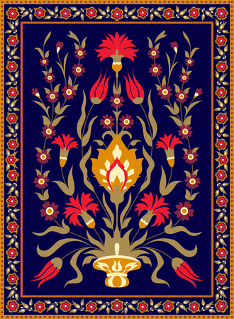 Oriental style floral design Illustration