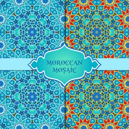 Arabian, moroccan traditional mosaic seamless pattern Illustration