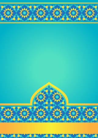 Marokkaanse tegels achtergrond. Sjabloon voor ontwerp in Arabische stijl