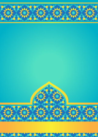 Moroccan tiles background. Template for design in Arabian style Illusztráció
