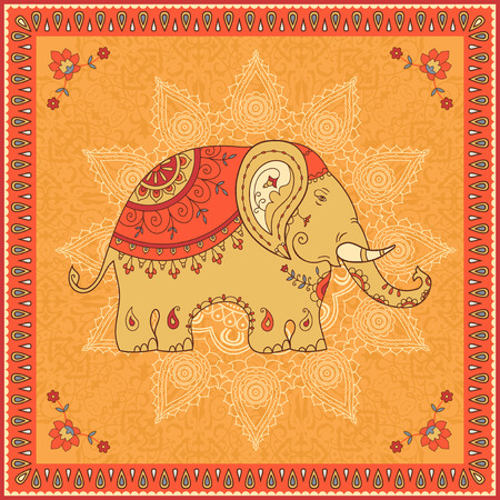 Indian elephant ornamental design