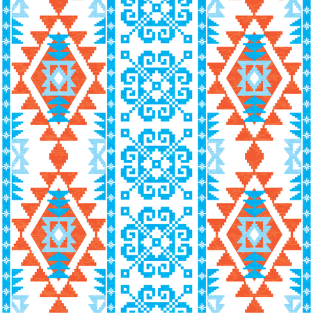 Christmas and New Year knitted seamless pattern. Ornamental background in ethnic style Ilustrace
