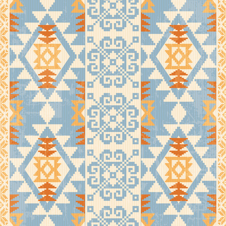 Absract geometric seamless pattern. Native american and scandinavian traditionsl motives
