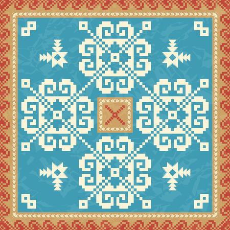 Snowflackes ornamental pattern Vektoros illusztráció
