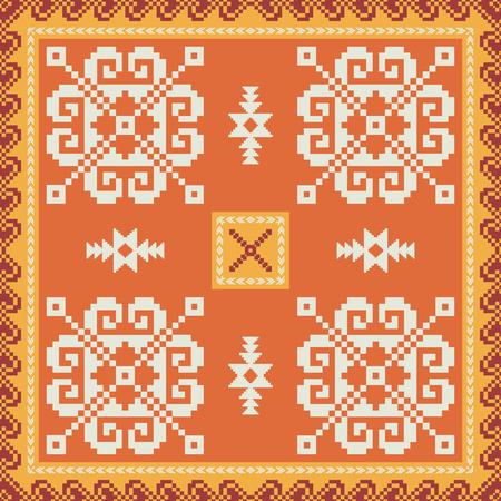 Geometrisches Ornamentmuster im ethnischen Stil