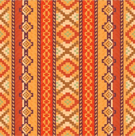 Red and orange ethnic pattern