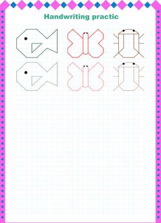 Handwritten practice sheet.