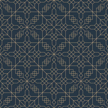 Abstract geometric pattern with lines, rhombuses. Seamless vector background.