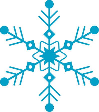 Blue snowflake vector icon isolated on white background. Vector illustration Ilustración de vector