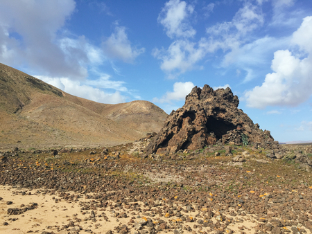 Landscape Fuerteventura Canary islands Spain