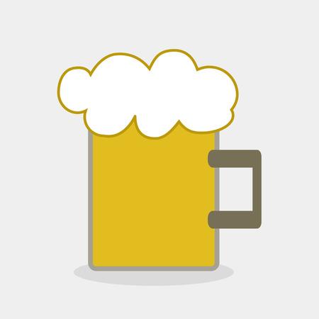 tankard: Beer tankard vector Illustration