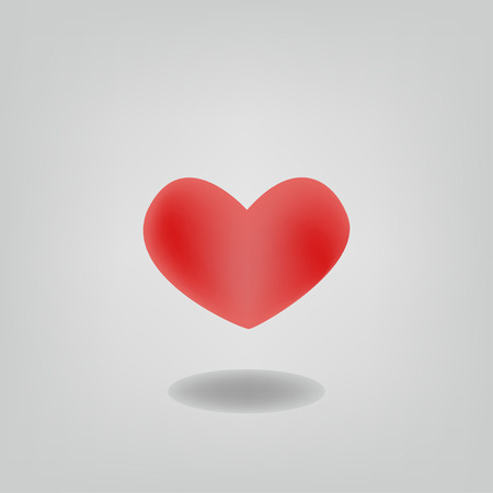altruism: Isolated heart shape vector design
