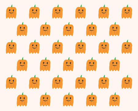 phantom: Phantom Pumpkins Halloween pattern Illustration