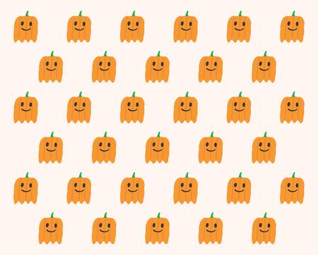 phantom: Phantom Pumpkins Halloween pattern Illustration