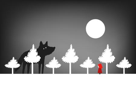 Little Red Riding Hood dans la forêt