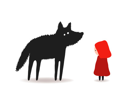little red riding hood: Little Red Riding Hood and the Wolf, characters design