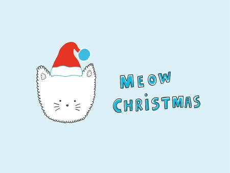 meow: Meow Christmas Cat illustration