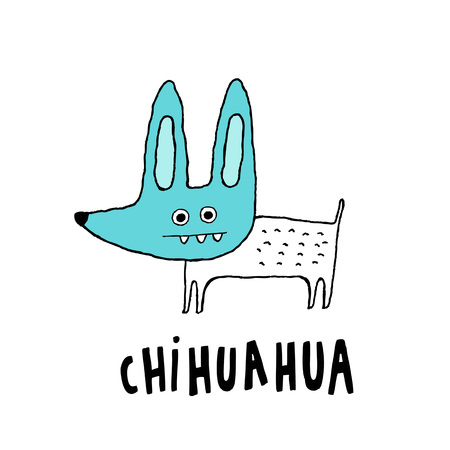 Cute Chihuahua dog, hand drawn vector illustration Illusztráció