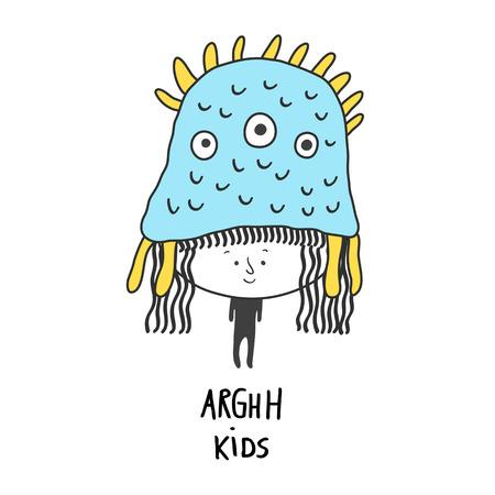 Arghh Kids, vector illustration. Character design for decoration