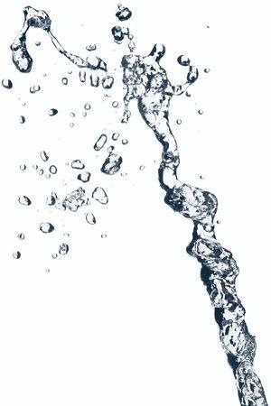 L'acqua spruzzata su bianco