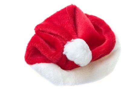 聖ニック毛皮で覆われた赤い休日帽子白
