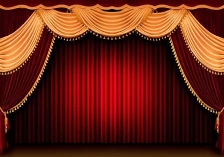 Red theater curtain Stock Photo - 851961