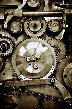 cerca vista de los artes de viejo mecanismo