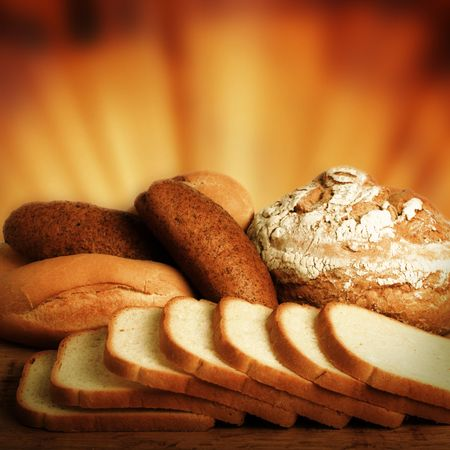 Loaf of bread over background. Stock Photo - 4020466