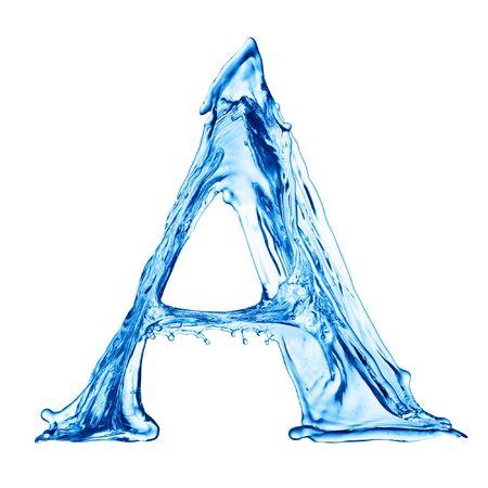 Une lettre de l'alphabet de l'eau Banque d'images - 4592755