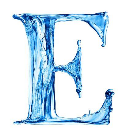 Ein Schreiben vom Wasser Alphabet